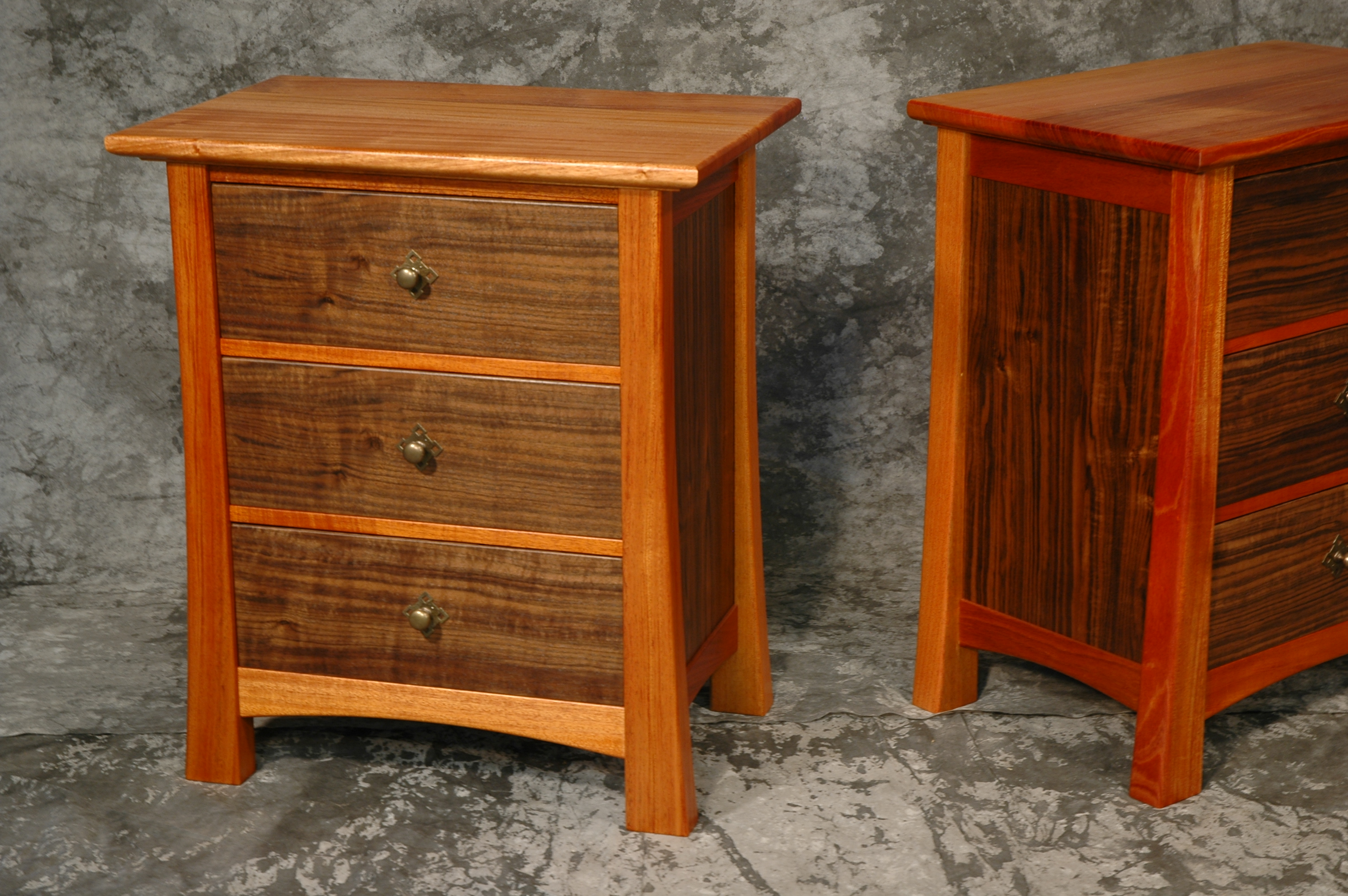 Custom Bedroom Set- Mahogany and Walnut > Montana Fine Furniture ...