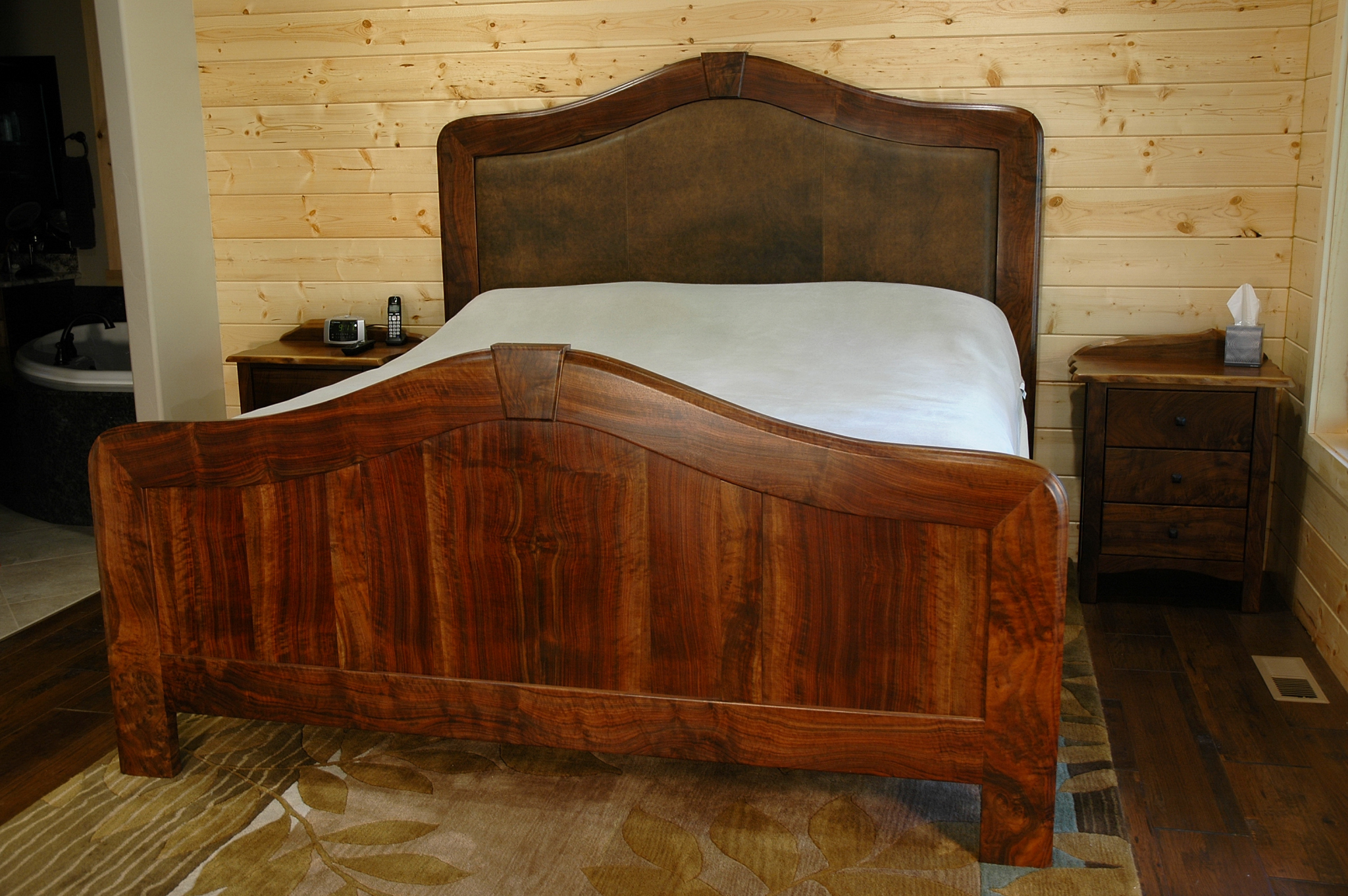 Bozeman used furniture cedar mountain bedroom set claro walnut montana fine modern mountain Mountain home bedroom furniture