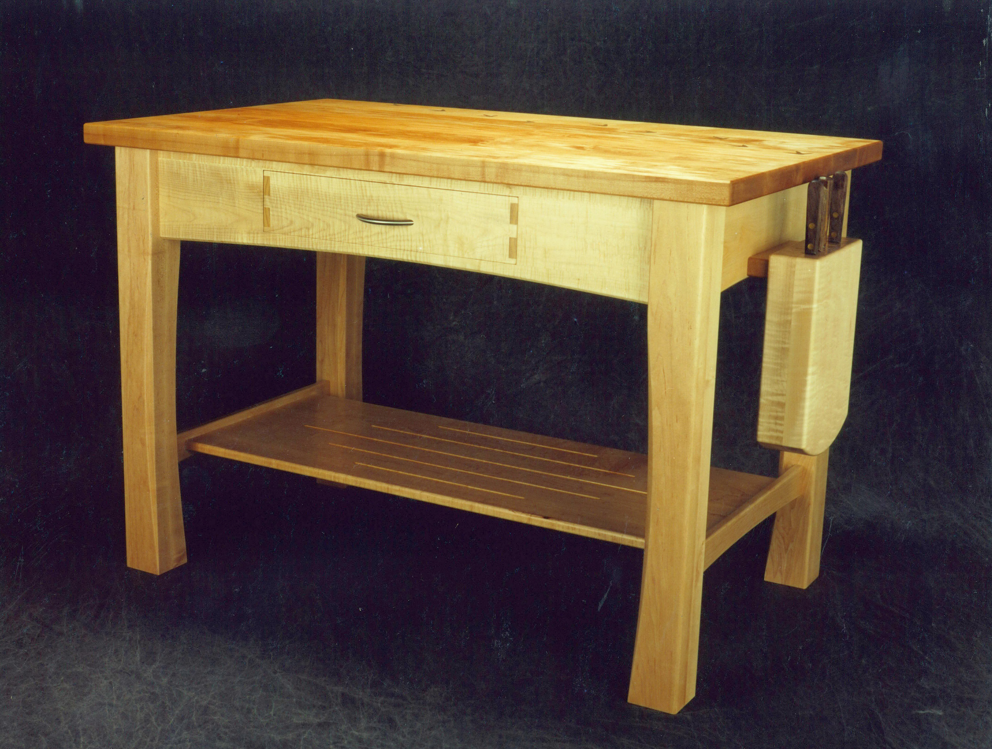 Maple Kitchen Island Montana Fine Furniture Handmade Furniture
