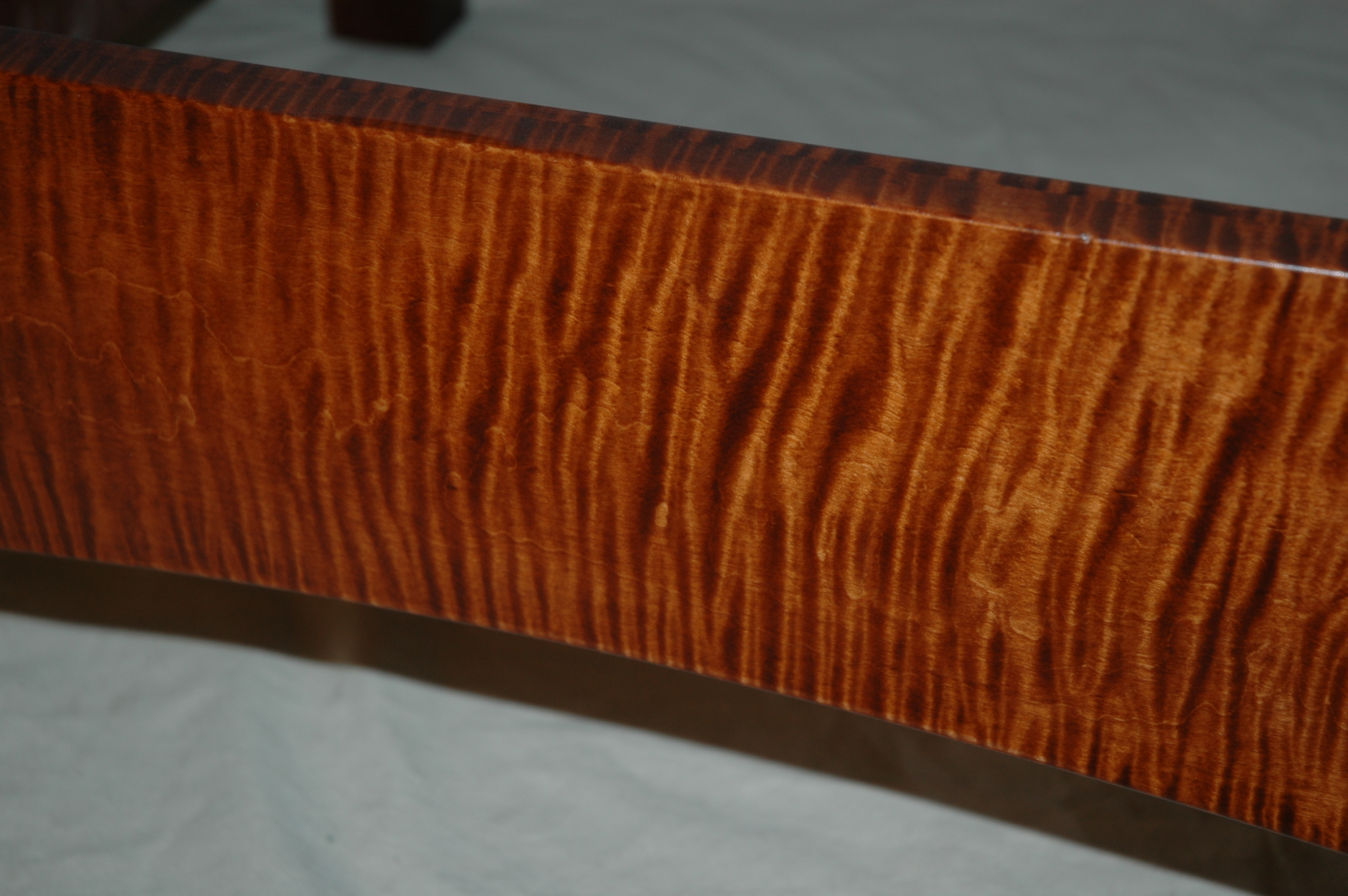 Morris Chair Curly Maple Amp Leather Gt Montana Fine