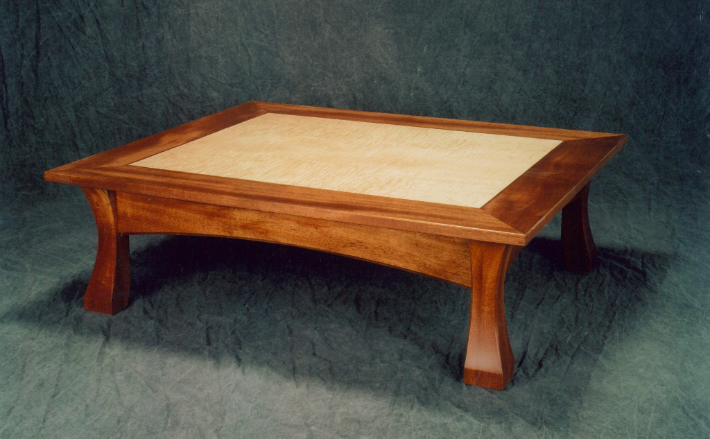 Portfolio Torii Coffee Table Mahogany And Curly Maple